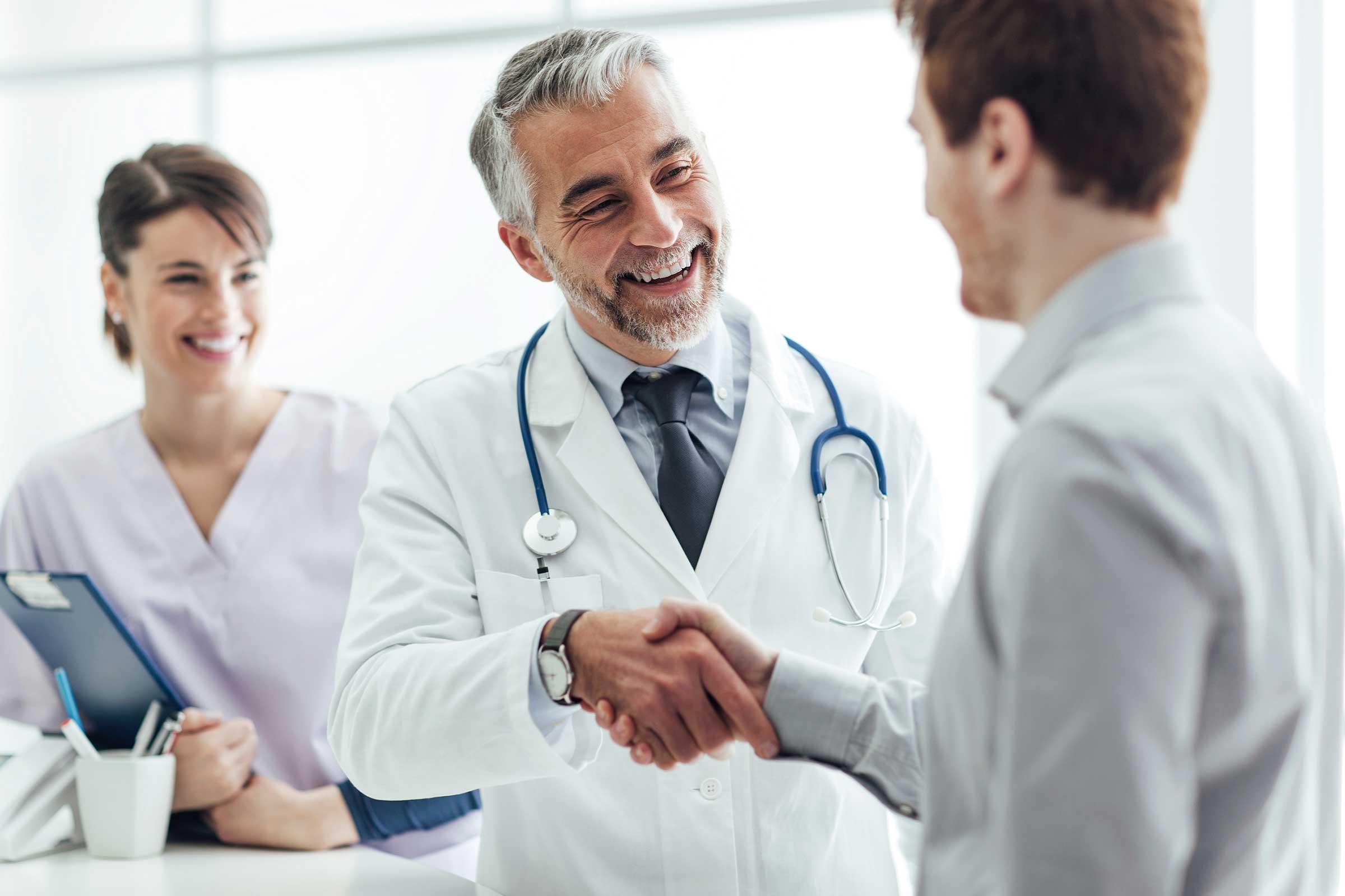 psychiatrist consulting patient